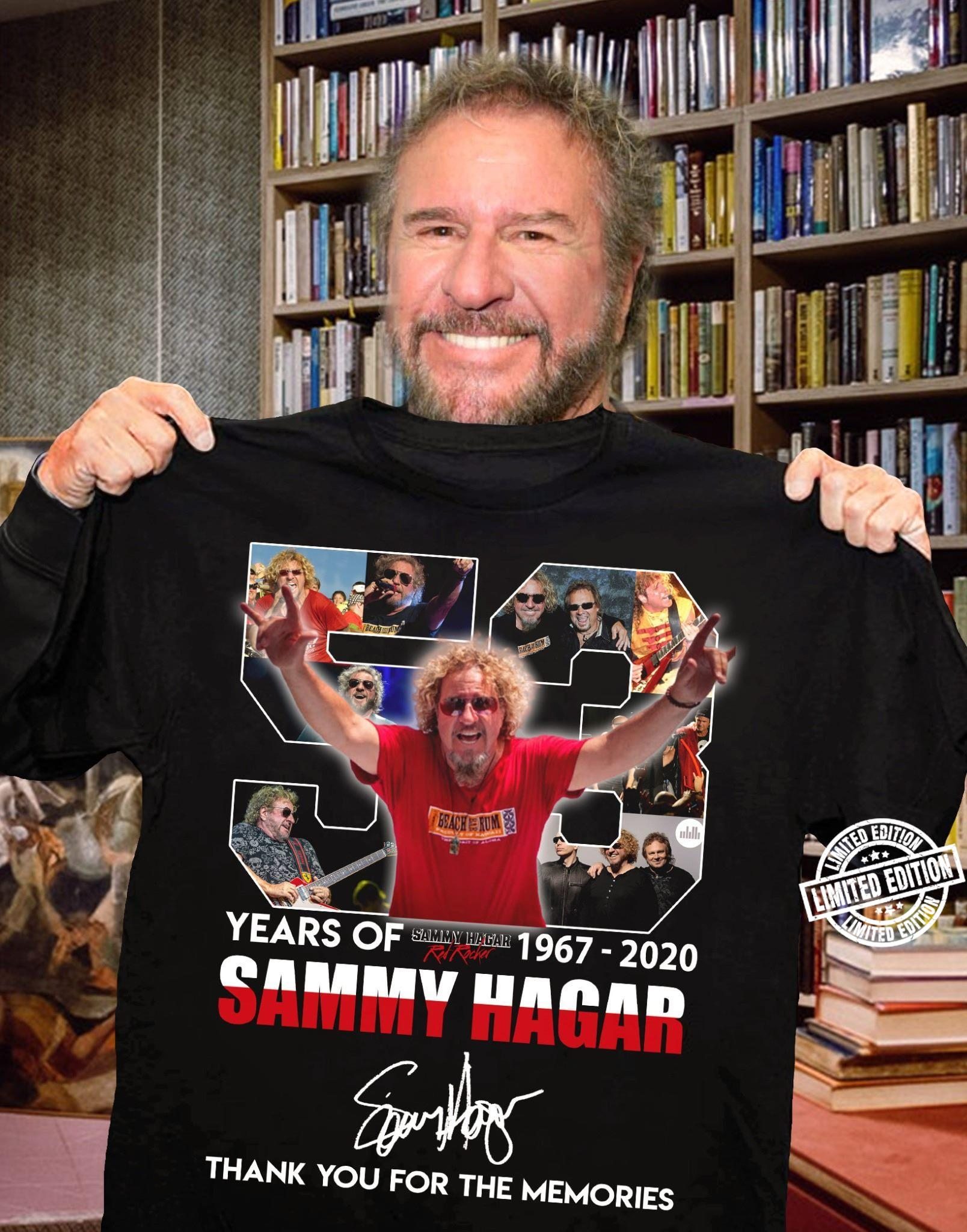 Years Of 1967 2020 Sammy Hagar Thank You For The Memories Shirt